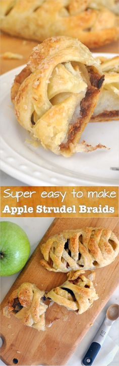 Crispy and buttery, braided mini strudel filled with soft apples, sweet raisins, and a dash of cinnamon