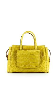 Continental Yellow Crocodile Tote by VBH for Preorder on Moda Operandi
