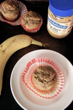 Peanut Butter Banana Muffins from @Stephanie  #tasteamazing #peanutbutterubzz
