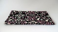 Yoga eye pillow cover black pink and cream design massage