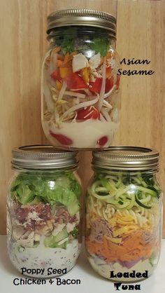 Week 6 Salads Salad In A Jar, Mason Jars, Bacon, Salads, Asian, Chicken, Mason Jar, Salad, Pork Belly