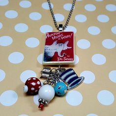 Horton Hears A Who Book  Necklace  Dr. Seuss by JensJunqueDrawer