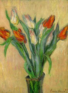 claude monet - vase of tulips