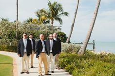 The groomsmen! Destination Wedding at South Seas Resort, Captiva, Florida Photo Credit: The Mullers  mullersphoto.com Wedding planning and design: Weddings by Socialites weddingsbysocialites.com