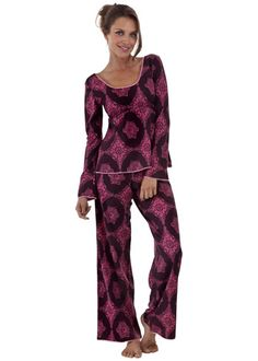 6c1189a4ac Bedhead Pajamas Stretch Plum Medallions Lounge Set