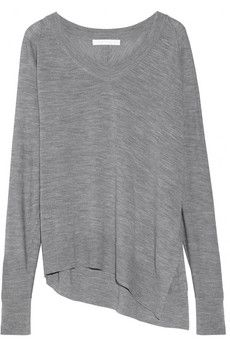 Alexander Wang Asymmetric fine-knit wool sweater