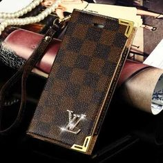 Louis Vuitton iPhone 6 Plus Damier Ebene Case Wallet 2015 - Best Friends Case - iPhoneProtectiveCases.com
