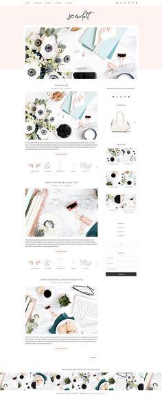 Scarlett - WordPress Theme by Bella Creative Studio on @creativemarket [affiliate]