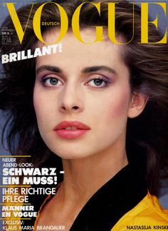 Nastassja Kinski Throughout the Years in Vogue Vogue Magazine Covers, Vogue Covers, Best Teen Movies, 1980 Cartoons, Nastassja Kinski, Vogue Us, Richard Avedon, Cover Pages, Woman Face
