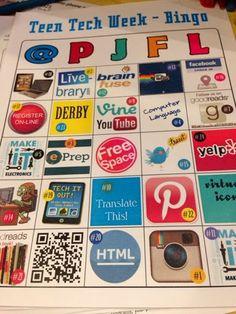 Nerd Craft Librarian: Teen Tech Week Bingo (Library Life)