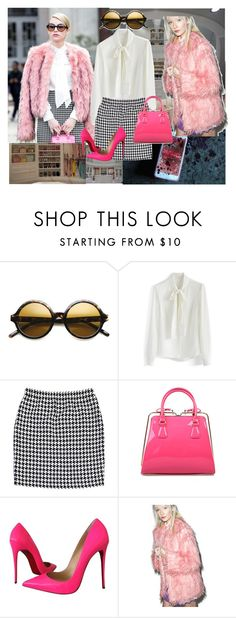 """""""Scream Queens: Chanel Oberlin"""" by natalie1789 ❤ liked on Polyvore featuring Chanel, Chicwish, St. John, Christian Louboutin and Somedays Lovin"""