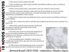Grafados: Bertrand Russel - 10 Mandamentos