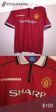 1998 Umbro Manchester United Soccer Jersey Deadstock Vintage 1998 Umbro  Manchester United Soccer Jersey Size Large 91db5f02b