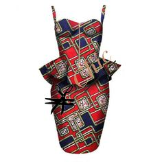 African print bustier ensemble by African, Couture, Boutique, Chic, Women, Shabby Chic, Elegant, Haute Couture, Boutiques