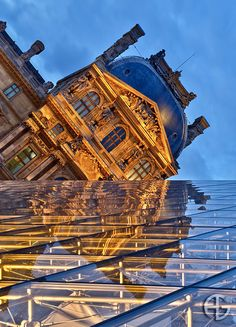 Mirror, Louvre, Paris, France Love the perspective in this one.  Not your typical Louvre Paris photograph.  Great eye! AS