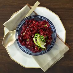Give some zing to your traditional cranberry sauce with this Jalapeño-Cranberry Relish. Pairs beautifully with turkey, but also works just as well as a spread for sandwiches or even as a taco topping.
