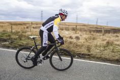 He might be nearly 60 years old but he's still got what it takes and he was up the top of Cragg Vale in no time at all.
