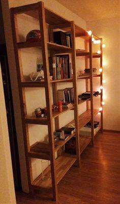 estanteria biblioteca madera paraiso macizo 160x220
