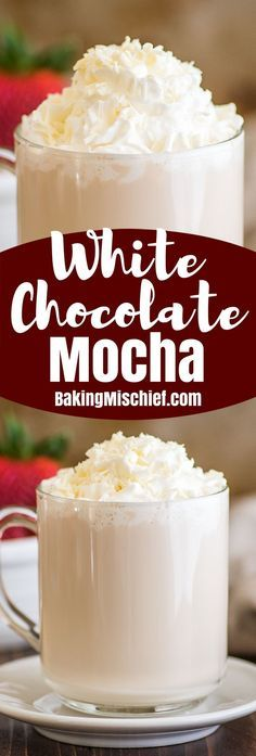 You can make a perfect White Chocolate Mocha at home with just five minutes and four ingredients. Ninja Coffee Bar Recipes, Coffee Drink Recipes, Starbucks Recipes, Tea Recipes, Coffee Drinks, Ninja Recipes, Health Recipes, Starbucks White Chocolate Mocha, Gastronomia