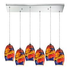 Surrealist 6 Light Kitchen Island Pendant