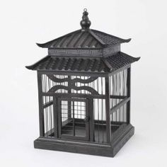 Chinese-style wooden birdcage