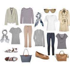 A fashion look from June 2012 featuring colorblock top, striped sailor shirt and wool cardigan. Browse and shop related looks.