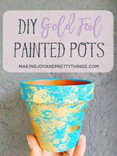 DIY Gold Foil Painte
