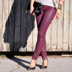 camo meets couture: J Brand leather look coated denim