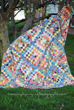 Scrappy Trip along quilt
