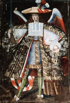 No es extraño, en la iconografía medieval, encontrar a los ángeles ataviados con objetos militares, a menudo con lanzas, escudos o espadas, deuna manera más clásica romana o al estilo medieval. Pe…