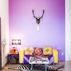 Can you pull off a purple wall? This Seattle artist did.