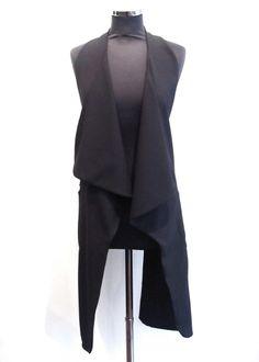Strip Waistcoat Black