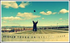 Graduation from BYU-Idaho. Such a cool photo!