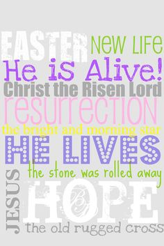 The stone was rolled away! Happy Easter.
