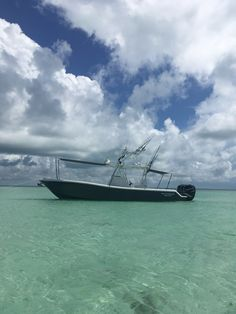 Gulfstream Yachts 34 with sunshades up. Center Console Fishing Boats, Yachts, Canisters, Ship