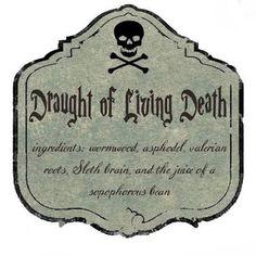 Resultado de imagem para harry potter potion labels