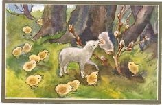 Mili Weber - Pussy Willow Fairy w Lamb - Chicken