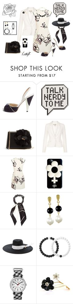 """Black, White"" by cody-k ❤ liked on Polyvore featuring Oscar de la Renta, Anya Hindmarch, Lanvin, Hobbs, Roland Mouret, Valfré, Aquascutum, CABARET, Littledoe and Lokai"
