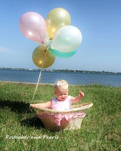 1st birthday balloon pics