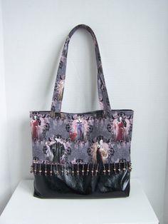 Disney Villians Handbag with Beaded Trim by pinklilypadbags on Etsy