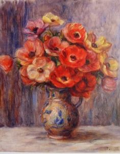 Anemones - Pierre-Auguste Renoir - Paper Hearts Gallery