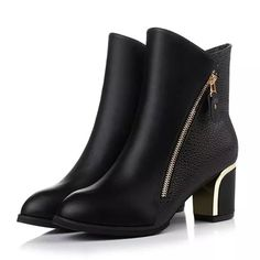 Fashion Zipper Ankle Boots For Women