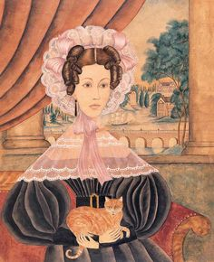 Artist unidentified - Portrait of Mrs. Keyser (Baltimore, 1834) - Watercolor, gouache, ink, and pencil on paper - American Folk Art Museum