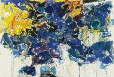 """COLOR IS LIGHT ON FIRE. EACH COLOR IS THE RESULT OF BURNING, FOR EACH SUBSTANCE BURNS WITH A PARTICULAR COLOR."" – SAM FRANCIS. For more on this painting go to ArtEx: http://www.galleryintell.com/artex/blue-symphony-by-sam-francis/"
