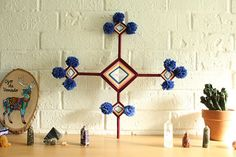 Thoughtfulness an 18 inch 4 point Traditional Ojo de Dios