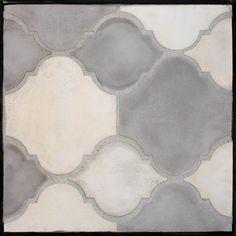 ArtoBrick concrete tile GB45 Arabesque Pattern 5b Natural/Sidewalk Gray
