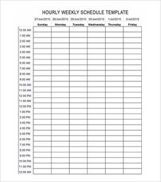 Time Management Weekly Schedule Template Bobbies Wish List Pinte - 24 hour staffing schedule template