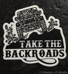 Sticker Take the Backroads Jeep Tribal Tattoo