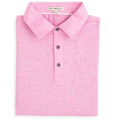 Peter Millar | Linen Cotton Polo in Retro Pink