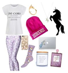 """""""For that unicorn love in your life"""" by pjax2 ❤ liked on Polyvore featuring Ally Fashion, Casetify, LeiVanKash, Dogeared, women's clothing, women's fashion, women, female, woman and misses"""